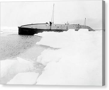 Nautilus Submarine In The Arctic Canvas Print by American Philosophical Society
