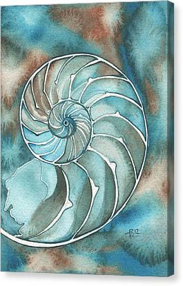 Canvas Print featuring the painting Nautilus by Tamara Phillips