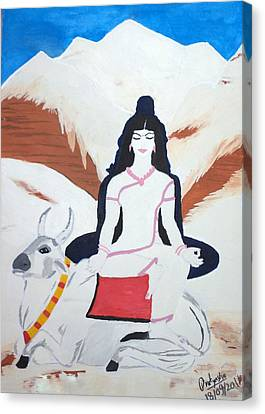 Nava Durga Mahagauri Canvas Print