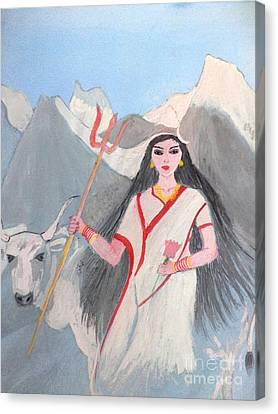 Nava Durga Shailputri Canvas Print by Pratyasha Nithin