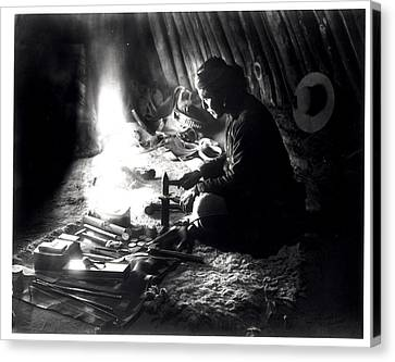 Navaho Silversmith Canvas Print by William J Carpenter