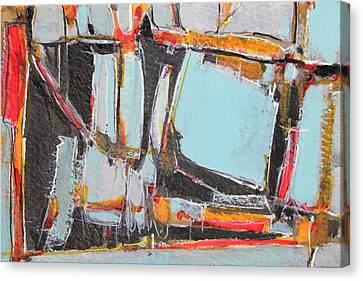 Navajo Blanket And Morning Sky Canvas Print by Hari Thomas