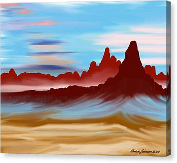 Canvas Print featuring the digital art Navajo by Brian Johnson