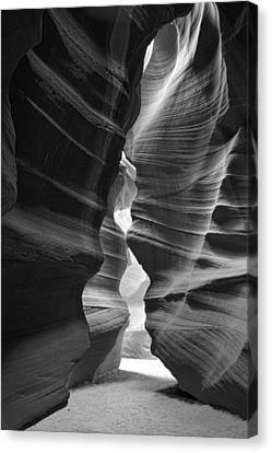 Antelope Canyon Black And White Canvas Print by Jonathan Davison