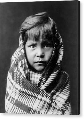 Indigenous Canvas Print - Navajo Child by Aged Pixel