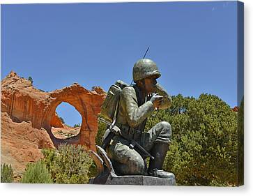 Navajo Code Talker - Window Rock Az Canvas Print by Christine Till