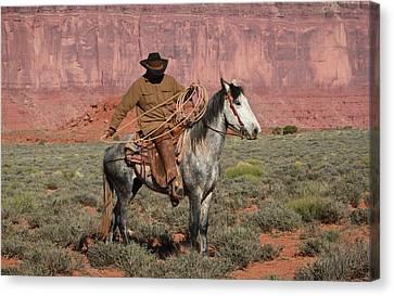 Navajo Cowboy Canvas Print