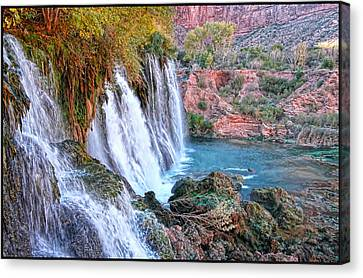 Navajo Falls Canvas Print by Stellina Giannitsi