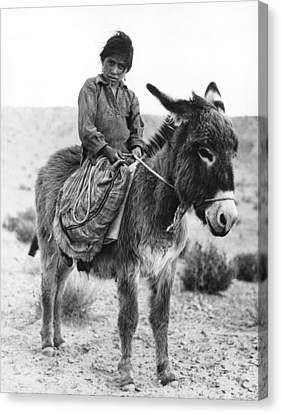 Navajo Herder Canvas Print by Underwood Archives
