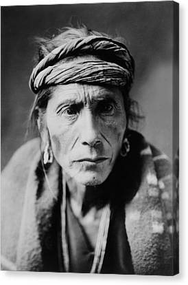 Old Man Canvas Print - Navajo Man Circa 1905 by Aged Pixel