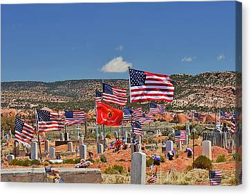Navajo Veteran's Memorial Cemetery Tsehootsooi Canvas Print by Christine Till