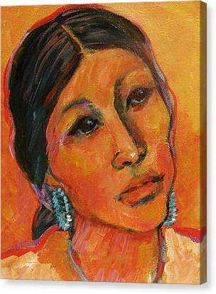 Navajo Woman Canvas Print