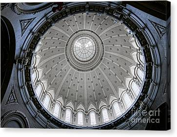 Naval Academy Chapel Dome Interior Canvas Print by Olivier Le Queinec