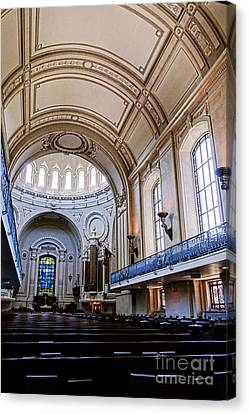 Naval Academy Chapel Interior Canvas Print by Olivier Le Queinec