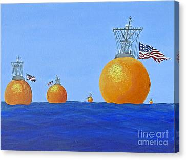 Naval Oranges Canvas Print by Cindy Lee Longhini