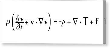 Navier-stokes Equation Canvas Print