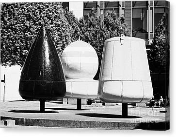 navigational buoys sculpture in Belfast city centre Canvas Print
