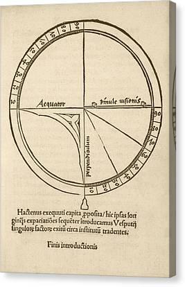 Navigational Quadrant Canvas Print