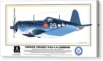 Navy Corsair 29 Canvas Print