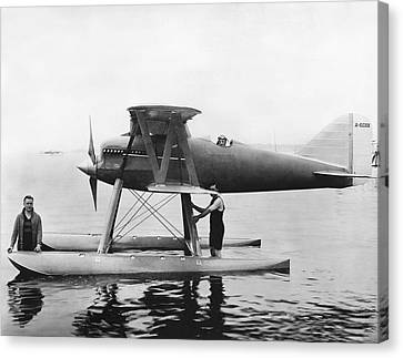 Navy Curtis Seaplane Racer Canvas Print by Underwood Archives