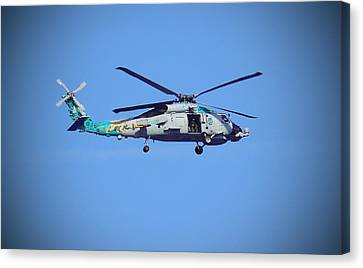 Navy Jaguar Helicopter Canvas Print