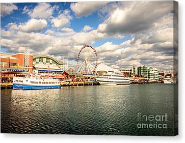Navy Pier Chicago Photo Canvas Print by Paul Velgos