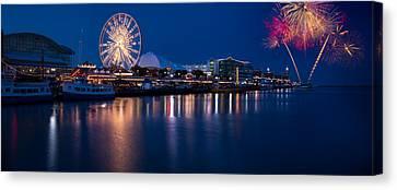 Navy Pier Fireworks Chicago I L Canvas Print