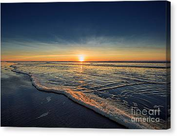 Navy Sunset Canvas Print by Lucid Mood