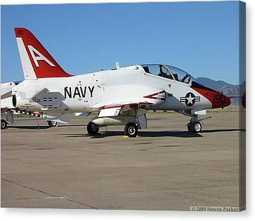 Navy T-45 Goshawk Canvas Print by Steven Parker