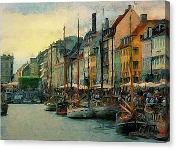 Nayhavn Street Canvas Print by Jeff Kolker