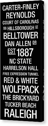 Nc State College Town Wall Art Canvas Print by Replay Photos