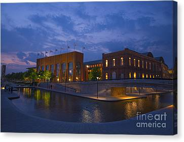Ncaa Hall Of Champions Blue Hour Wide Canvas Print by David Haskett