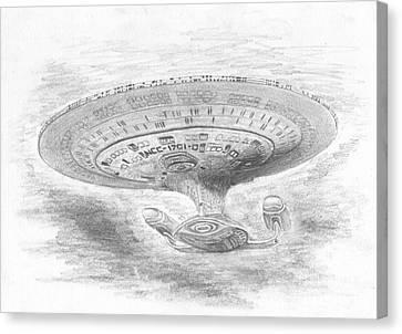 Ncc-1701-d Enterprise Canvas Print by Michael Penny