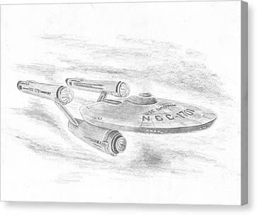 Ncc-1701 Enterprise Canvas Print by Michael Penny