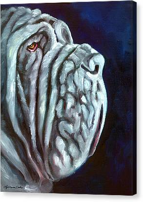 Neapolitan Mastiff Rufio Canvas Print by Lyn Cook