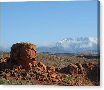 Canvas Print featuring the photograph Near And Far by Jean Marie Maggi