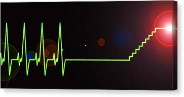 Near-death Experience, Heartbeat Trace Canvas Print by Science Photo Library
