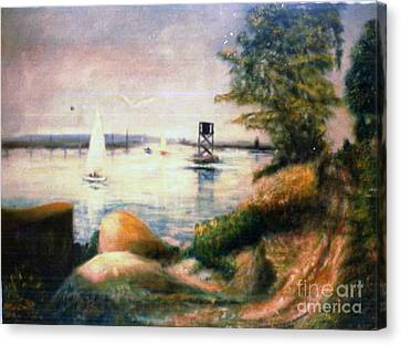 Near Greenwich Canvas Print