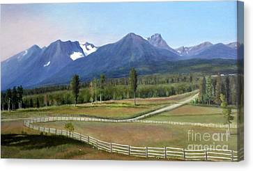 Near Smithers Bc Canvas Print