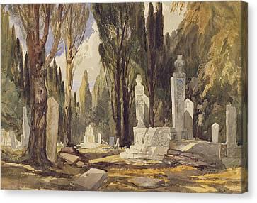 Near The Caravan Bridge Canvas Print by William James Muller