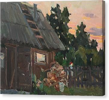 Near The Russian Bath Canvas Print by Juliya Zhukova