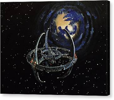 Deep Space Canvas Print - Near The Wormhole by Tim Loughner