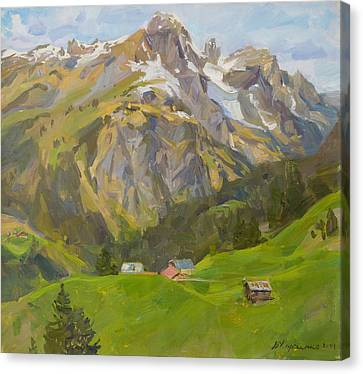 Near Tops Of Tyrolean Mountains Canvas Print
