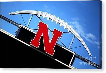 Nebraska Husker Memorial Stadium Canvas Print