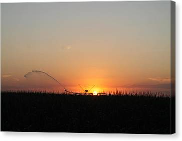 Canvas Print featuring the photograph Nebraska Sunset by Alicia Knust