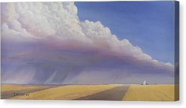 Harvest Canvas Print - Nebraska Vista by Jerry McElroy