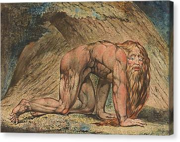 Nebuchadnezzar Canvas Print by William Blake