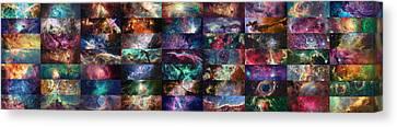 Nebula Collage  Canvas Print