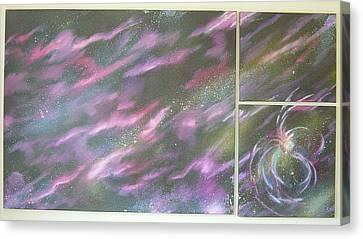 Nebula II Triptych Canvas Print by Mark Golomb