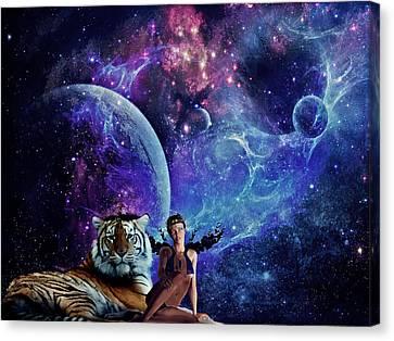 Nebulist Tiger Canvas Print